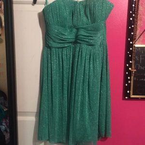 Green Strapless Cocktail Dress
